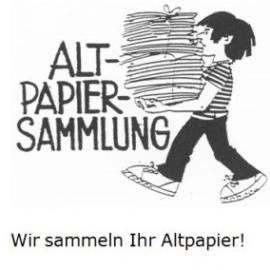 Die Altpapiersammlung geht weiter, egal wie!