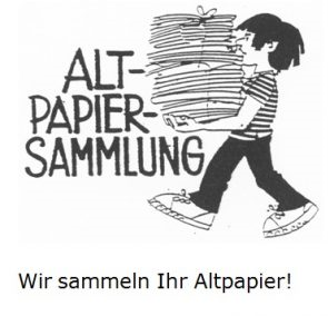 Ankündigung Altpapiersammlung am 12.10.