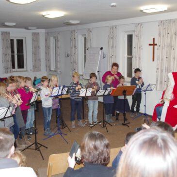 Die Blockflöten des Musikverein bekamen Besuch vom Nikolaus!