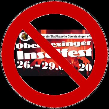 Oberriexinger Musikverein sagt Inselfest 2020 ab!