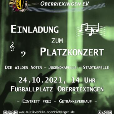 Einladung zum Platzkonzert 24.10.